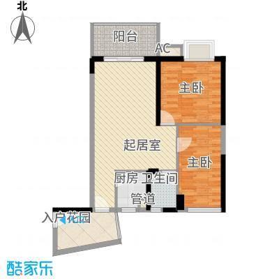 香樟国际香樟国际2室2厅1卫户型2室2厅1卫