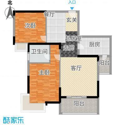 春江花园户型图2室 户型图 2室2厅1卫1厨