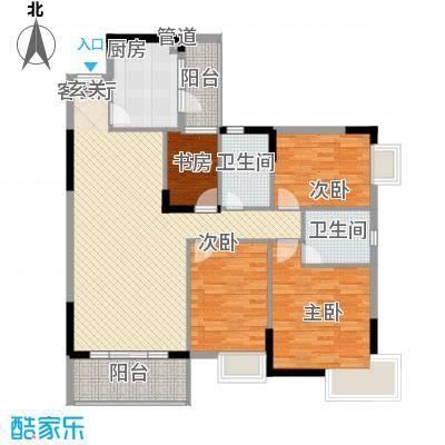丰泰裕田花园138.00㎡丰泰裕田花园户型图4室2厅2卫1厨户型10室