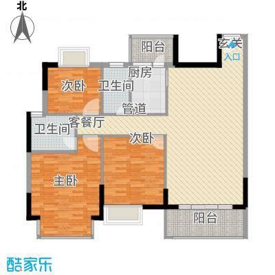 丰泰裕田花园136.00㎡丰泰裕田花园户型图3室2厅2卫1厨户型10室