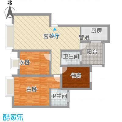 铭星小河印象107.00㎡铭星小河印象户型图B-1-13室2厅2卫1厨户型3室2厅2卫1厨