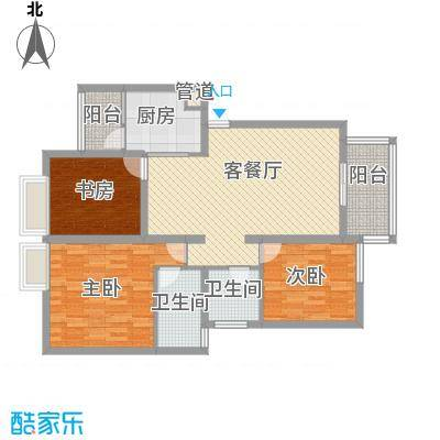 铭星小河印象104.00㎡铭星小河印象户型图C-3-13室2厅2卫1厨户型3室2厅2卫1厨