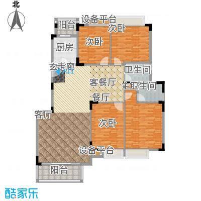 中信森林湖香樟林182.00㎡中信森林湖香樟林4室户型4室