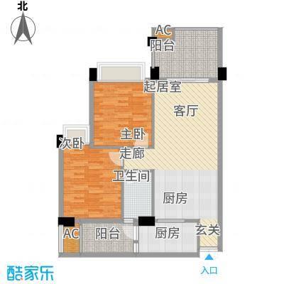 汇景上层88.00㎡汇景上层2室户型2室