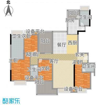 中信森林湖香樟林242.00㎡中信森林湖香樟林3室户型3室