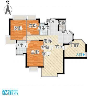 世纪城国际公馆一期153.00㎡世纪城国际公馆3室户型3室