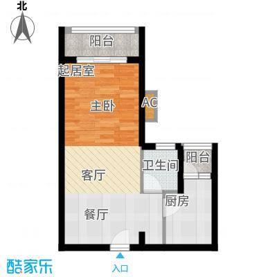 汇景上层汇景上层1室0厅户型1室