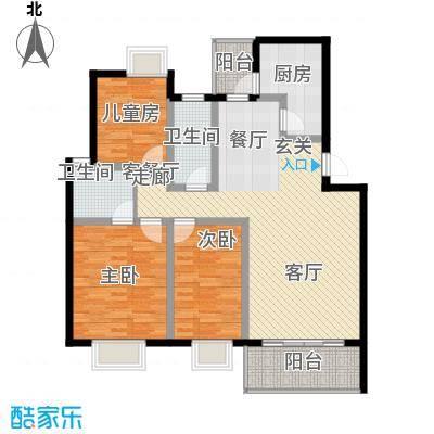 蓝天花园104.16㎡蓝天花园3室户型3室