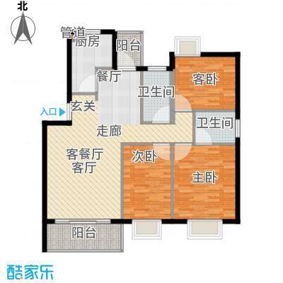 蓝天花园104.83㎡蓝天花园3室户型3室