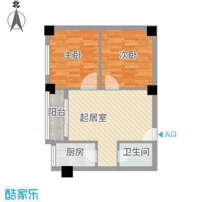 来鹤北苑600x60户型2室