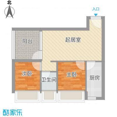富华新村55.00㎡富华新村2室户型2室