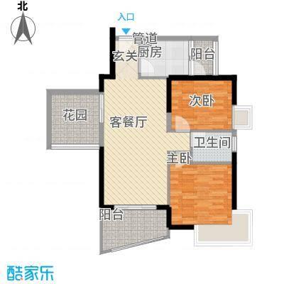 香樟国际.89.07㎡香樟国际.户型图2栋标准层F户型2室2厅1卫户型2室2厅1卫