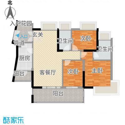 香樟国际.119.17㎡香樟国际.户型图1栋标准层A户型3室2厅2卫户型3室2厅2卫