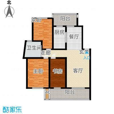 世纪城国际公馆三期147.00㎡世纪城国际公馆仁里3室户型3室