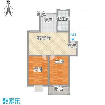 上林苑95.27㎡上林苑户型图户型图2室2厅1卫1厨户型2室2厅1卫1厨