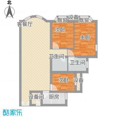 富民花园98.00㎡南栅富民花园3室户型3室