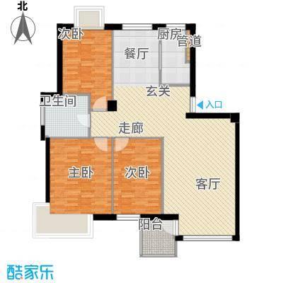 翰林观海121.23㎡翰林观海户型图D户型阳光地带3室2厅1卫1厨户型3室2厅1卫1厨