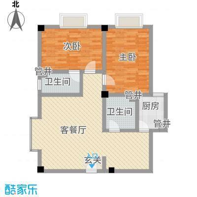 大唐龙庭户型图大唐智能花园三期 2室2厅2卫1厨