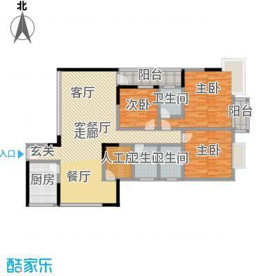 多伦多翠邸户型图3室2厅1卫1厨