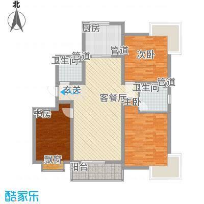城南都市嘉园户型图A-1-1_缩小大小 3室2厅1卫
