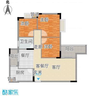 多伦多翠邸 3室 户型图