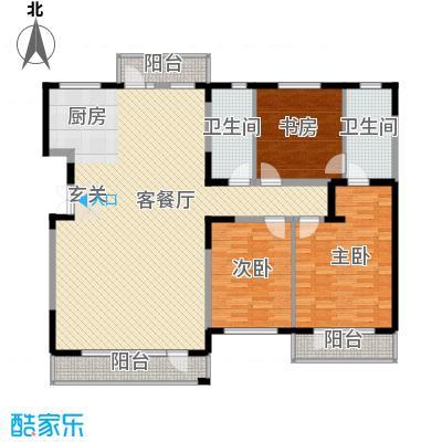 大院小区 3室 户型图