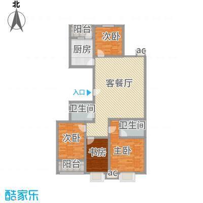 银海水韵户型图B户型 4室2厅2卫