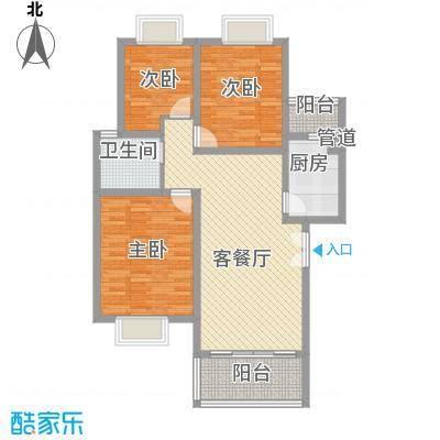 兴隆城市花园二期户型图3室2厅1卫1厨