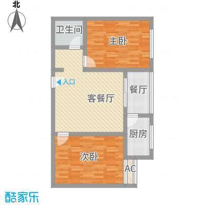 迎泽熙园I户型两室两厅一卫