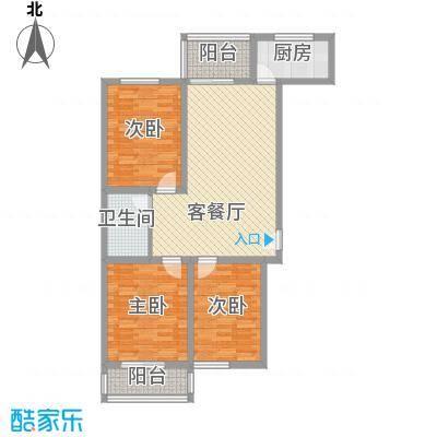 迎泽熙园E户型三室两厅两卫