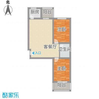 迎泽熙园A户型两室两厅一卫
