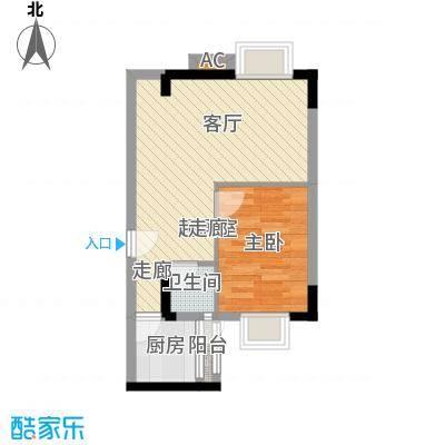 粤顺豪庭户型图5座102平面图 1室2厅1卫1厨