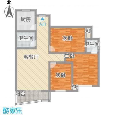 迎泽熙园J户型三室两厅两卫