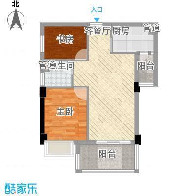 景湖春晓 2室户型图