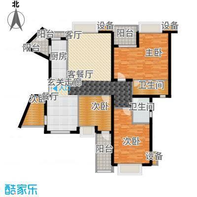 东泰花园明华苑82.00㎡东泰花园明华苑3室户型3室