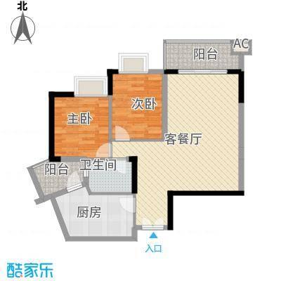 香树丽舍82.48㎡香树丽舍户型图5号楼标准层02户型2室2厅1卫1厨户型2室2厅1卫1厨