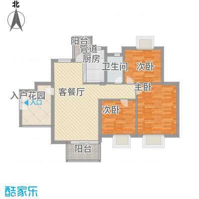 香树丽舍95.65㎡香树丽舍户型图5号楼标准层04户型3室2厅1卫1厨户型3室2厅1卫1厨