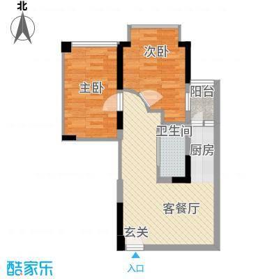 雍华庭83.00㎡雍华庭2室户型2室