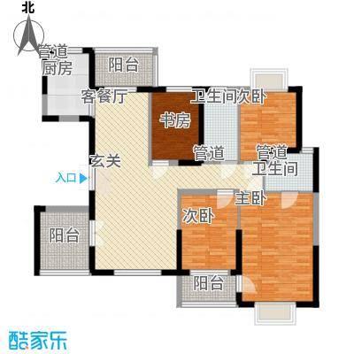 莲花广场莲花广场3室户型3室