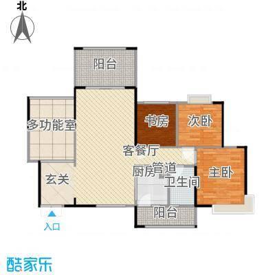 莲花广场205.00㎡莲花广场5室户型5室