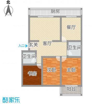 金胜新区128.30㎡金胜新区户型图3室2厅2卫1厨户型10室
