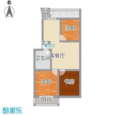 金胜新区93.21㎡金胜新区户型图3室2厅1卫1厨户型10室