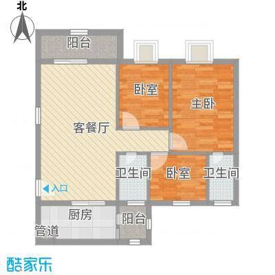 汇星苑89.00㎡汇星苑户型图21#、22#、23#02单位3室2厅户型3室2厅