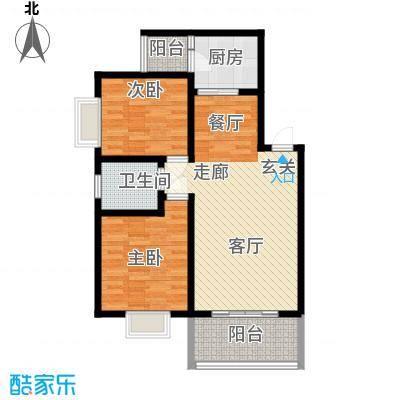 怡丰苑77.00㎡海杨城三期怡丰苑2室户型2室