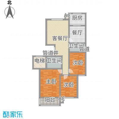 晋建文缘149.07㎡三室两厅两卫149.07户型3室2厅2卫1厨