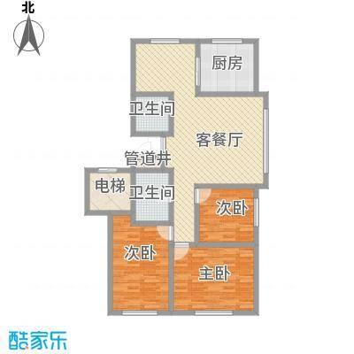 晋建文缘130.99㎡三室两厅两卫130.99户型3室2厅2卫1厨