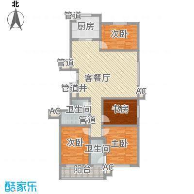 晋建文缘176.40㎡三室两厅两卫176.40户型3室2厅2卫1厨