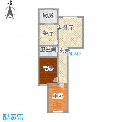 晋建文缘104.09㎡三室两厅两卫104.09户型3室2厅2卫1厨