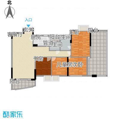 汇景豪庭136.70㎡汇景豪庭4室2厅户型4室2厅