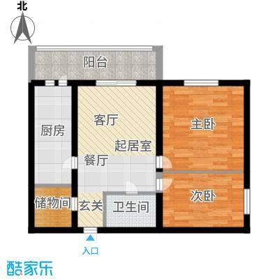安通家园67.40㎡安通家园户型图2室1厅1卫1厨户型10室